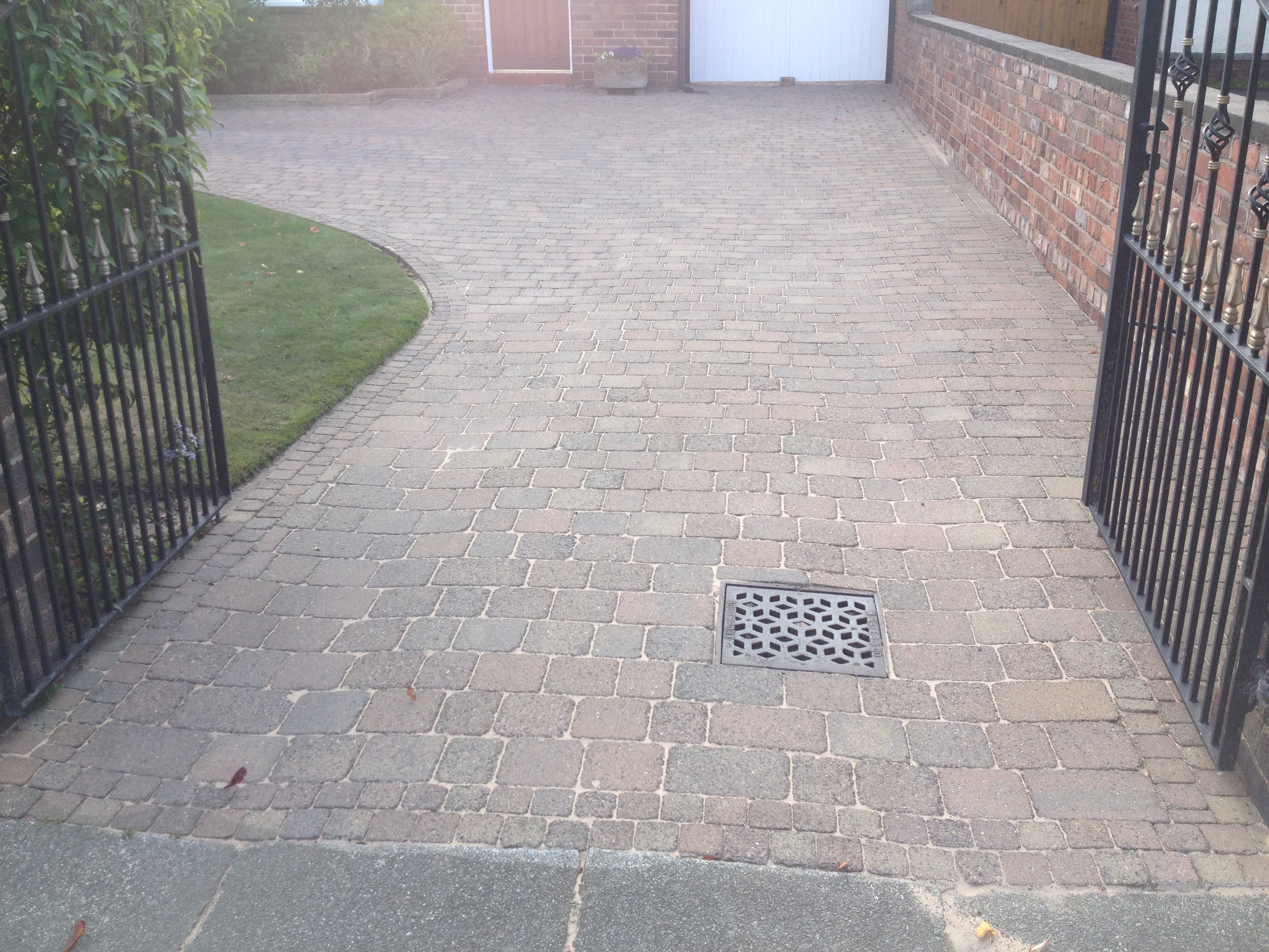 block paving cleaning ormskirk lancashire image ..after cleaning