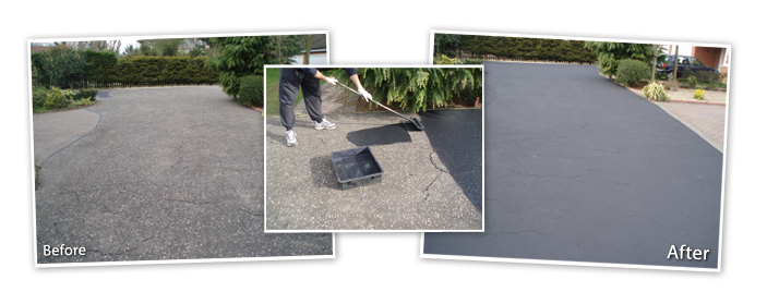 before and after Tarmac restoration
