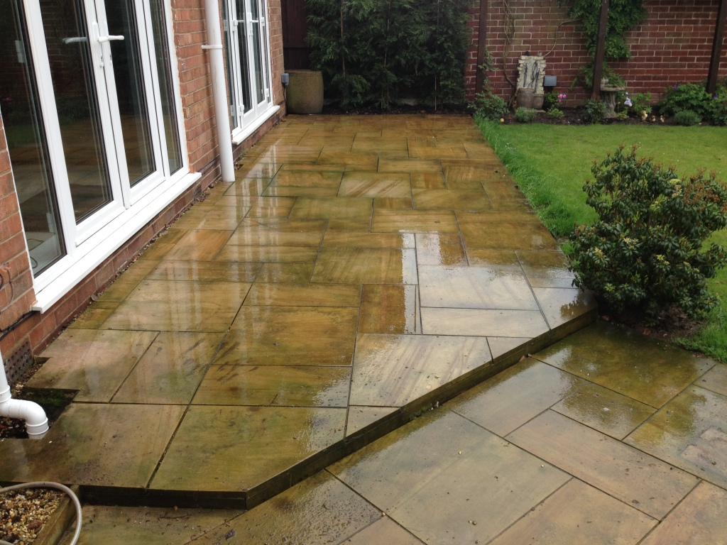 Image of Indian sandstone cleaning in liverpool merseyside ..before cleaning
