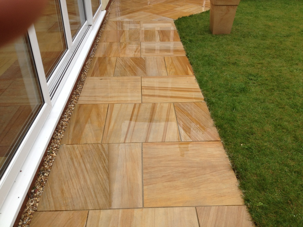 Image of Indian sandstone cleaning in liverpool merseyside ..after cleaning