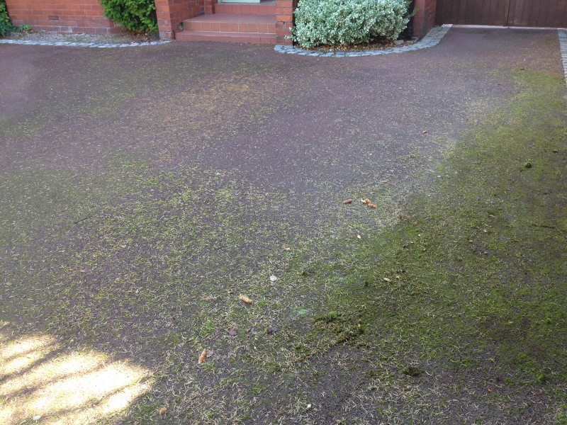Tarmac driveway cleaning.