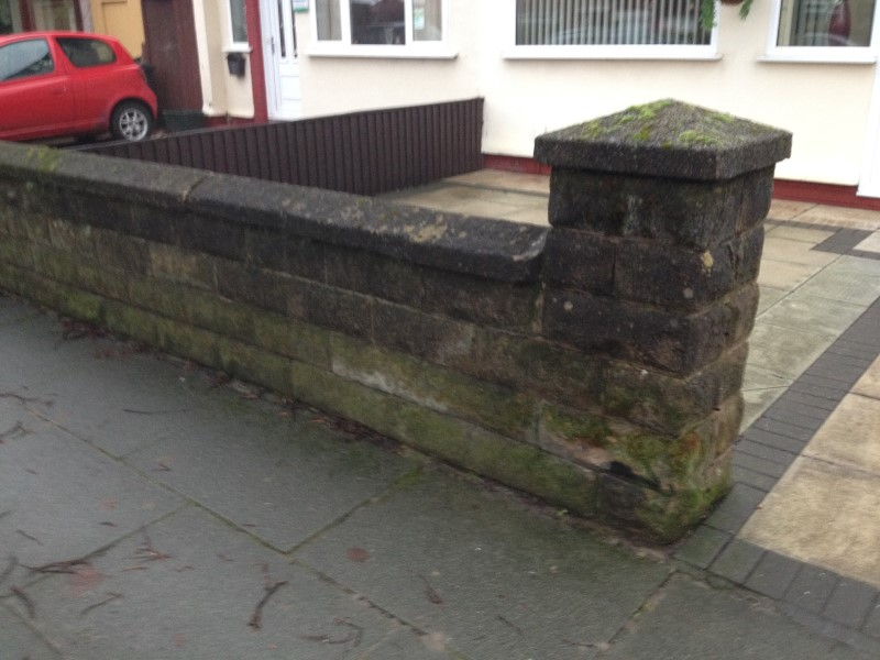 image of wall pressure washing in formby nr southport merseyside