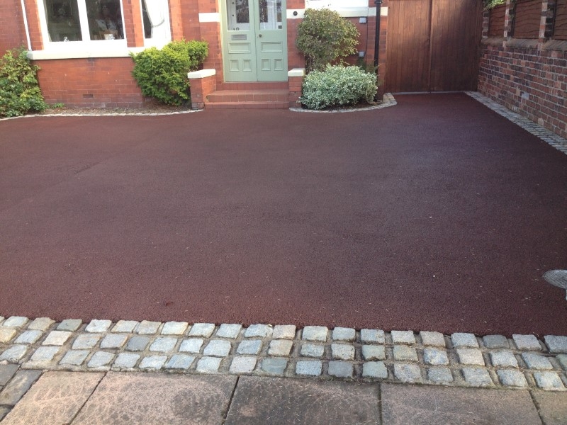 tarmac driveway we cleaned in ormskirk lanashire