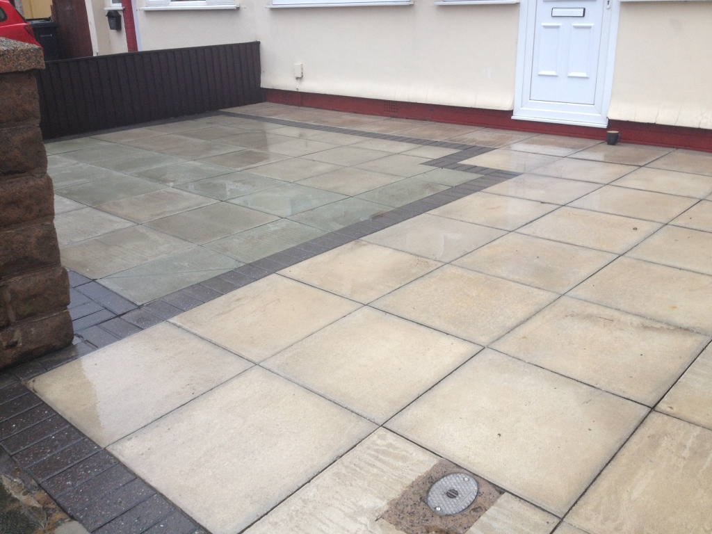 image of driveway cleaning in crosby nr liverpool