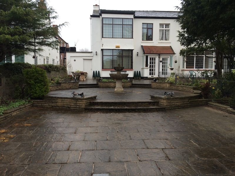 before image of patio cleaning Southport Merseyside